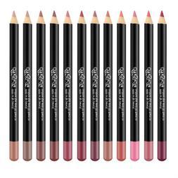 12 Color Matte <font><b>Lip</b></font> <font><b>Liner</b></f