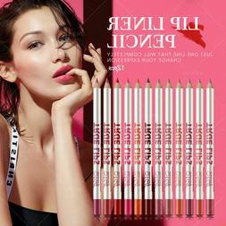 MeNow True Lips 12 Colors Set Lip Liner Pencil Waterproof Ma