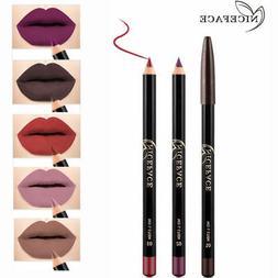 12 Colors Waterproof Pencil Lipstick Pen Matte Lip Liner Lon