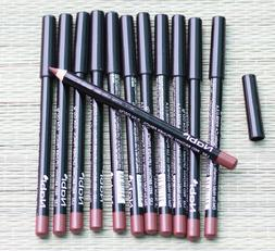 12 pcs l32 red brown lip liner