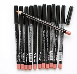 12 pcs NABI L54 NATURAL GLITTER Lip Liner Lipliner Pencil