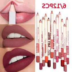 12 pcs set waterproof lipstick lip liner