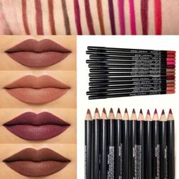 12 PCS/Set Waterproof Lipstick Lip Liner Long Lasting Matte