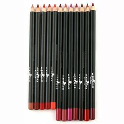 12pc Italia Deluxe Ultra Fine Lip Liner Set of 12 Colors