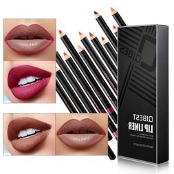 12pcs/Set Waterproof Lip Liner Pencil Long Lasting Lipliner