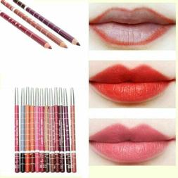 12PCS/Set Waterproof Lipstick Lip Liner Pen Pencil Long Last