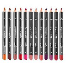 12Pcs Women Waterproof Lipstick Long Lasting Matte Lipliner