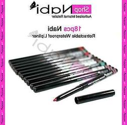 18pcs retractable waterproof lipliner