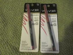 2 Revlon Colorstay Lip Liner Crayon w Pull Out Sharpener 660