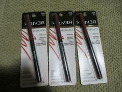 3 Revlon Colorstay Lip Liner Crayon w Pull Out Sharpener 665