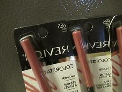 5 Revlon Colorstay Lip Liner Crayon w Pull Out Sharpener 5 P