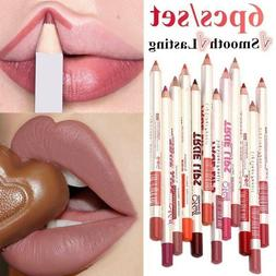 6Pcs/set Lipliner Pencil Matte Lip Stick Waterproof Long Las