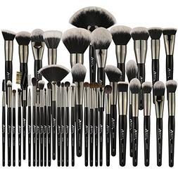 BEILI Pro Signature Makeup Brush Full Set 40 Pieces Natural