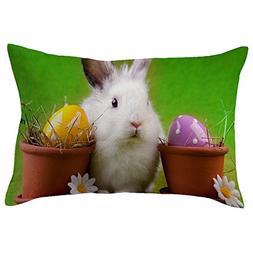 HYIRI Big Easter Rectangular Wild Style Pillow Cover Set tos