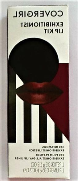 COVERGIRL Exhibitionist LIP KIT- 455 Infamous Lipstick & 235