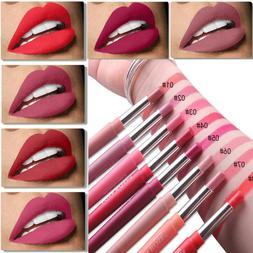Double End Women Lipstick Matte Lip Liner Pencil Waterproof