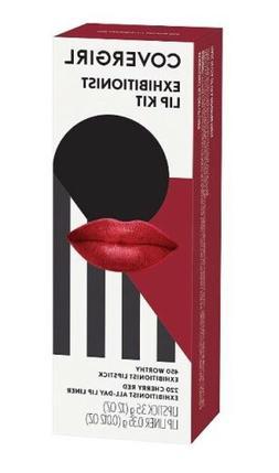 Covergirl Exhibitionist Lip Kit 450 Worthy 220 Cherry Red Li