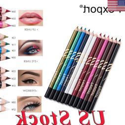 Eyeliner Pencil 12/6pcs Set Eye Liner Waterproof Long Lastin