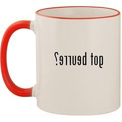 got beurre? - 11oz Ceramic Colored Handle & Rim Coffee Mug C