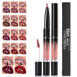 Double Head Stay 2 in 1 Matte Long Lasting Lipstick & Lip L