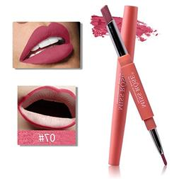 HP95 Matte Lip Stick Pencil Natural Double-End Waterproof Lo