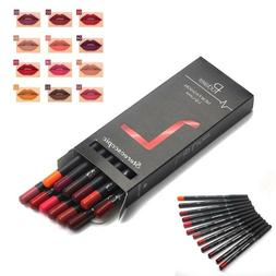 JN_ Pudaier 12Pcs Long Lasting Lipliner Pencil Lip Liner Pen