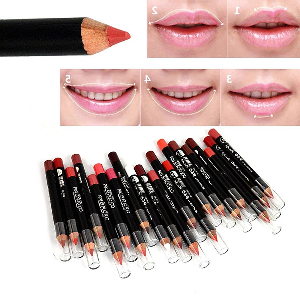 12 Color Professional Matte <font><b>Lip</b></font> <font><b>Liner</b></font> Long Lasting Natural Lipliner Pen Makeup Cosmetic Kit