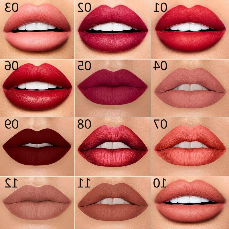 12 Colors Long-lasting <font><b>Liner</b></font> Matte <font><b>Lip</b></font> <font><b>Pencil</b></font> Lipsticks Makeup Contour TSLM2