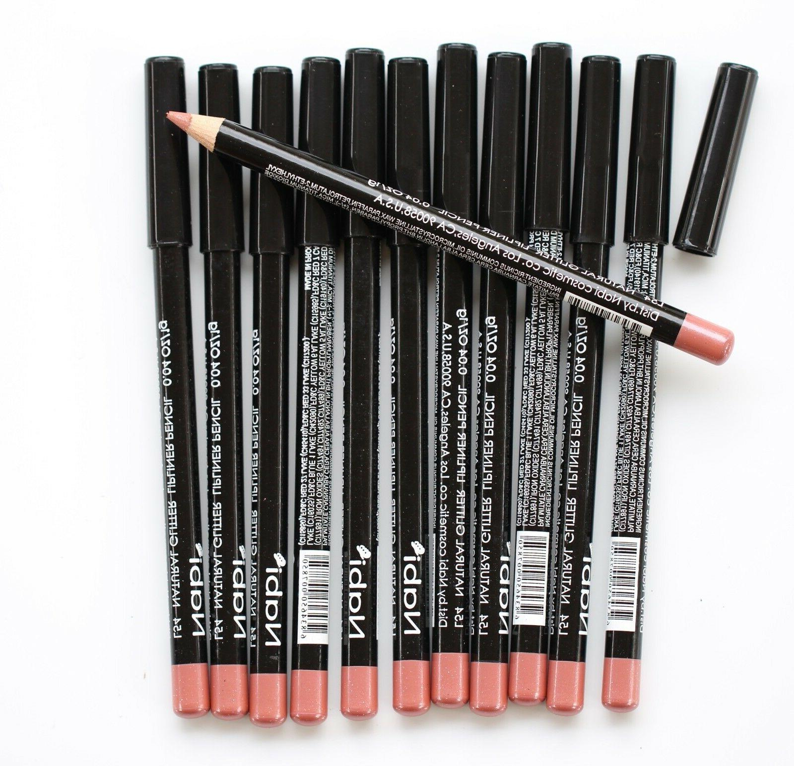 12 pcs l54 natural glitter lip liner
