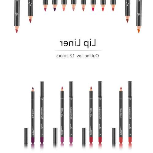12pcs/Set Liner Long Lasting Lipliner Pencil Lip Pen Set