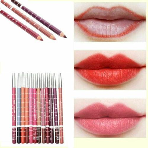 12pcs set waterproof lipstick lip liner pen