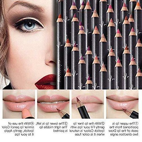 12Pcs Women Lipstick Long Lasting Pencil U