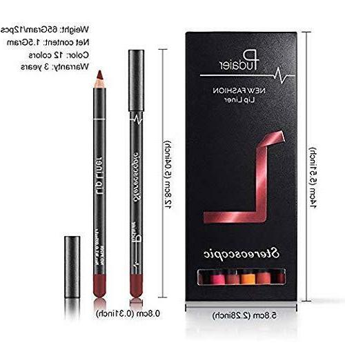 12Pcs Waterproof Long Lasting Matte Pencil Lip U