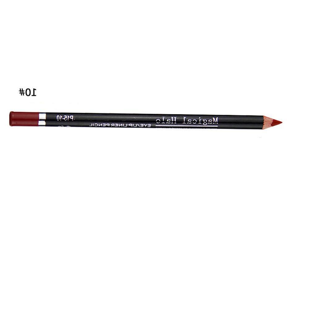 16 <font><b>Lip</b></font> <font><b>Liner</b></font> Pencil Easy Waterproof Long Lasting Nude Red Lipliner Pen Stick Sexy Levre