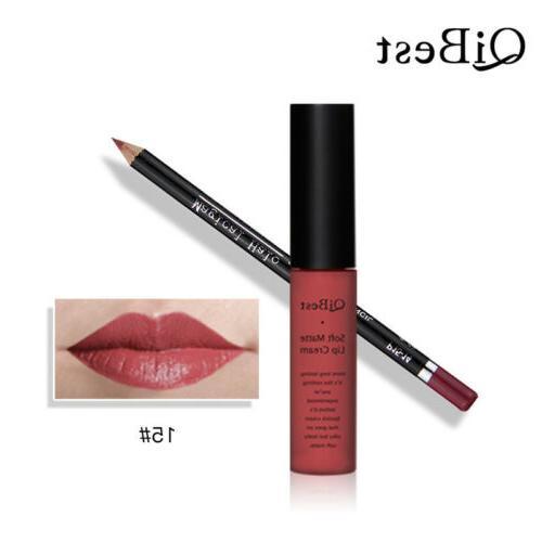 16 Liquid Lipstick Lip Lip Liner Pencil Makeup