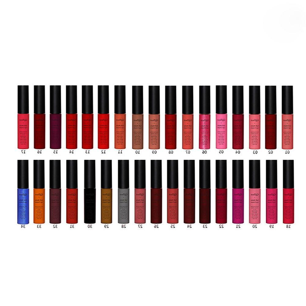 16Colors Matte Liquid Lip Gloss & Lip Liner Cosmetics