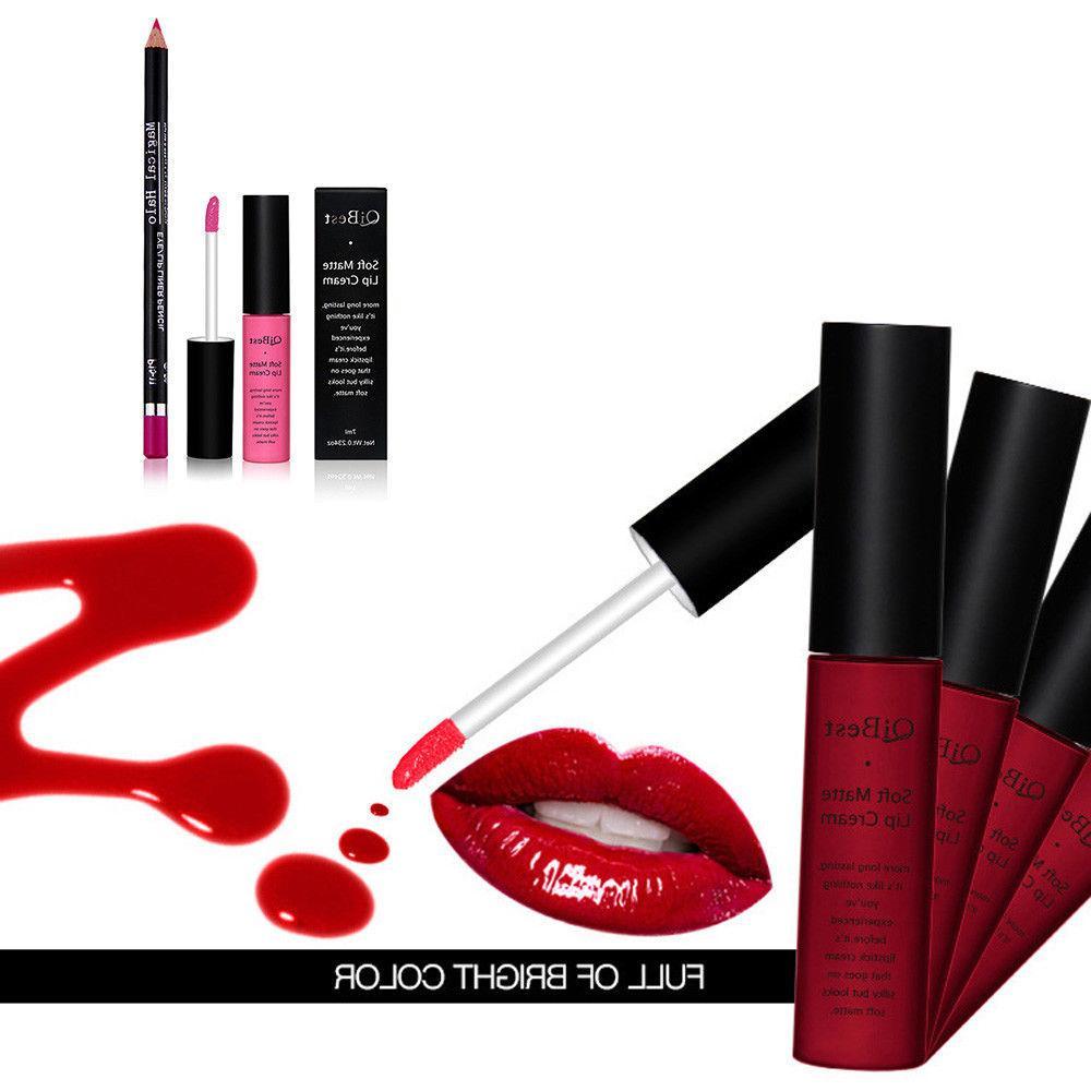 1Set Lipstick + Lip Liner Gloss
