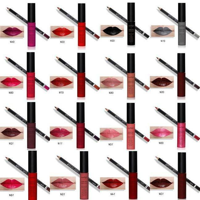 1set lipstick lip liner waterproof lip gloss