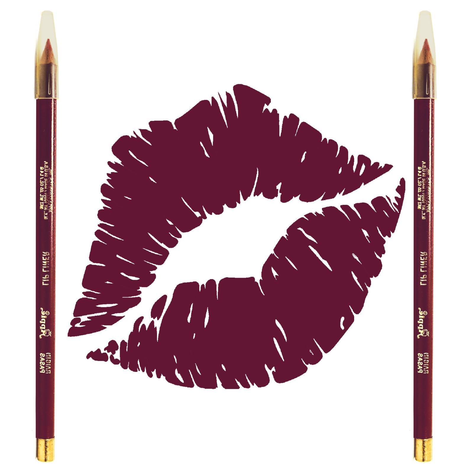 2x lip liner pencil raisin purple full