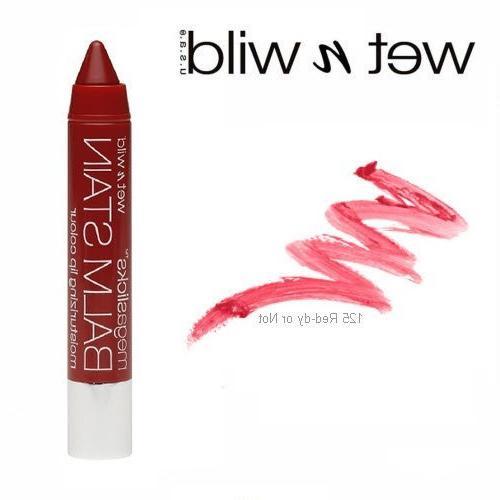 3 Pack Wet n Wild Beauty Megaslicks Lip Balm Stain 125 Red-d