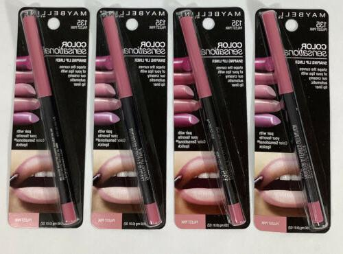4 new maybelline color sensational shaping lip