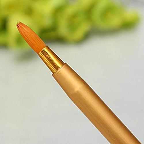 5 Pcs Retractable Brush Travel Gloss Makeup