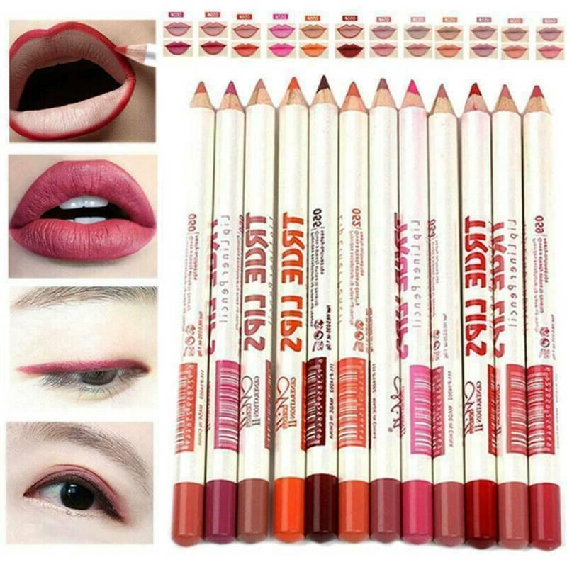 6Pcs/set Pencil Lip Stick Waterproof Lasting Makeup