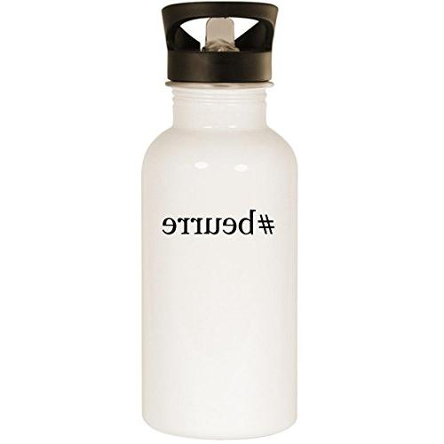 #beurre - Stainless Steel 20oz Road Ready Water Bottle, Whit