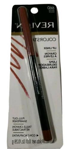 Revlon ColorStay Lip Liner #660 Mauve, 0.01 oz/.28g. New.