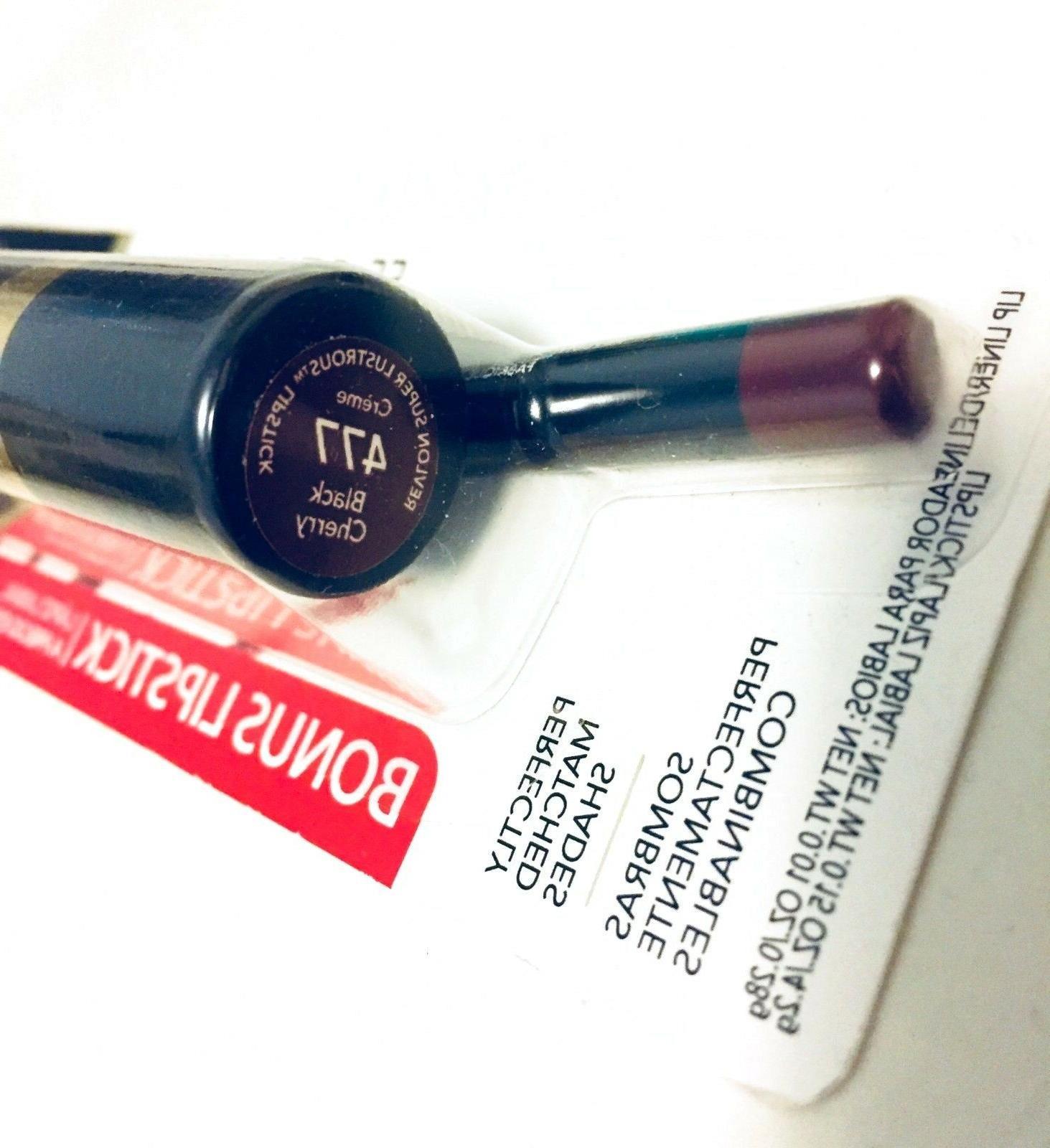 Revlon Lipliner Plum 665 Bonus Lipstick Black Cherry 477