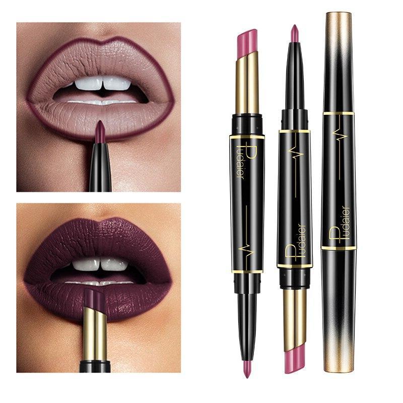 Pudaier End Matte lipsticks Set Waterproof Red <font><b>Lip</b></font> <font><b>Liner</b></font> Beauty Cosmetics