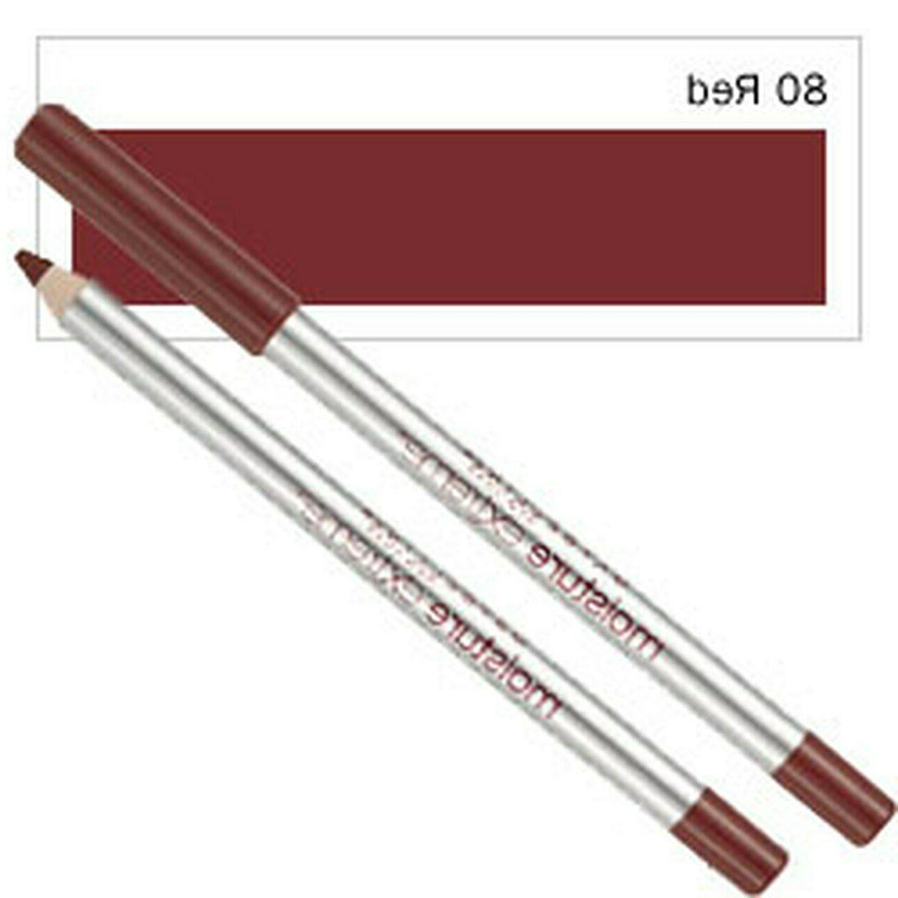 Maybelline Moisture Extreme, Lip Liner: 100-Toast, 80-Red,