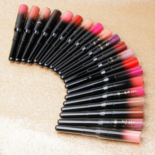 QIBEST 2 in 1 Waterproof Pen Lip Lipstick