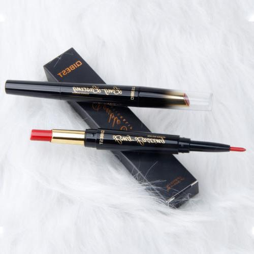 QIBEST in1 Women Matte Double-end Liner Lipstick Pencil